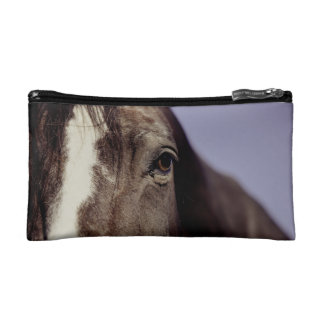 Black Horse Face with Eye Cosmetic Bag