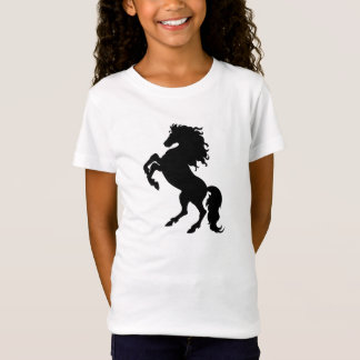 Black Horse Rearing - Girl's Bella Fitted T-Shirt