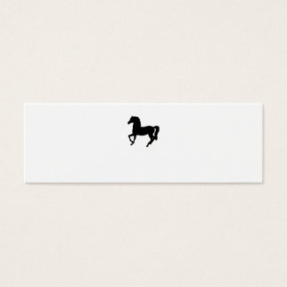 Black horse silhouette blank business card