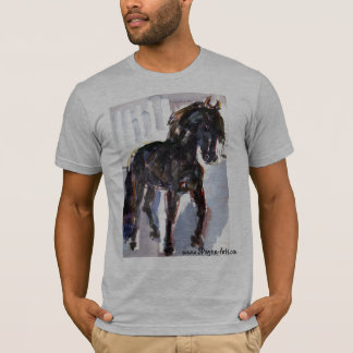 Black Horse Watercolor T-Shirt