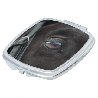 Black Horse's Eye Makeup Mirror
