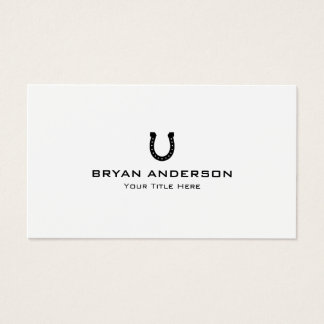 Black Horseshoe Business Card