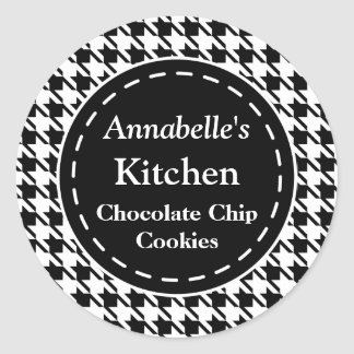 Black Houndstooth Kitchen Stickers