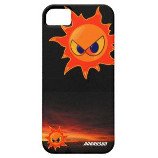black housing a furious sun in a dusk iPhone 5 covers