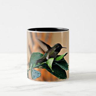 Black  Hummer on Leaf Coffee Mug