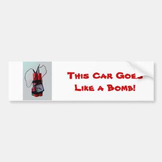 Black Humor - Mock Bomb Bumper Sticker