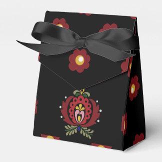 Black Hungarian Folk Design Favour Box