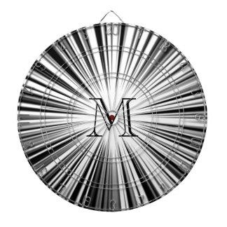 Black Hyperspace Monogram Dart Board
