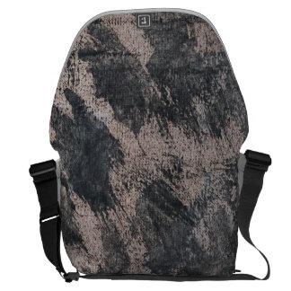 Black Ink on Brown Background Commuter Bag