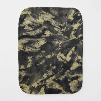 Black Ink on Gold Background Burp Cloth