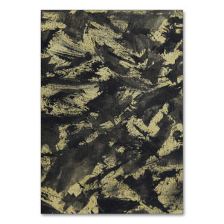 Black Ink on Gold Background Card