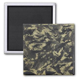 Black Ink on Gold Background Magnet