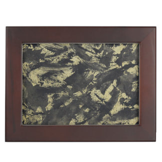 Black Ink on Gold Background Memory Boxes