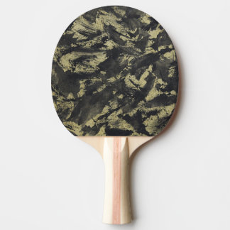 Black Ink on Gold Background Ping Pong Paddle