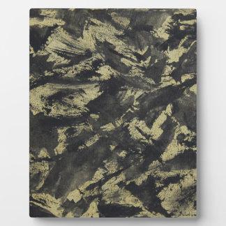 Black Ink on Gold Background Plaque