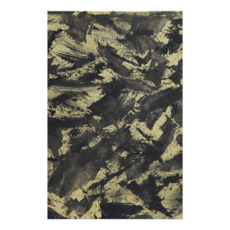 Black Ink on Gold Background Stationery