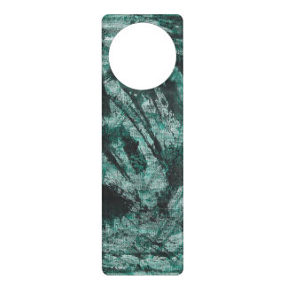 Black Ink on Green Marker Door Hanger