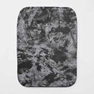 Black Ink on Grey Background Baby Burp Cloths