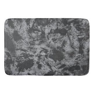 Black Ink on Grey Background Bath Mat