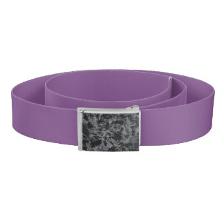 Black Ink on Grey Background Belt