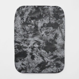 Black Ink on Grey Background Burp Cloth