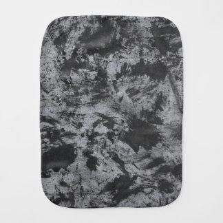Black Ink on Grey Background Burp Cloths