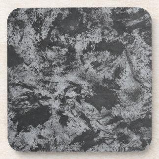 Black Ink on Grey Background Coaster