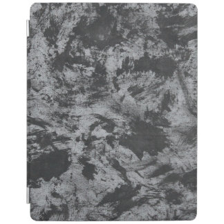 Black Ink on Grey Background iPad Cover