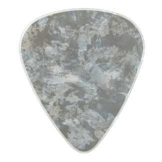 Black Ink on Grey Background Pearl Celluloid Guitar Pick