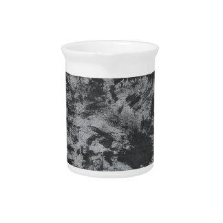 Black Ink on Grey Background Pitcher
