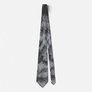 Black Ink on Grey Background Tie