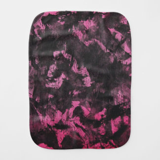 Black Ink on Pink Background Burp Cloth