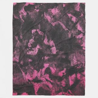 Black Ink on Pink Background Fleece Blanket