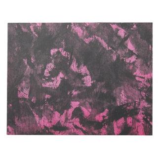 Black Ink on Pink Background Notepad