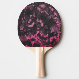 Black Ink on Pink Background Ping Pong Paddle