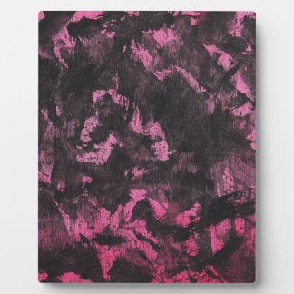 Black Ink on Pink Background Plaque