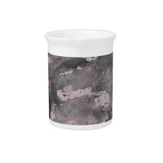 Black Ink on Pink Highlighter Pitcher