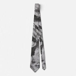 Black Ink on White Background #2 Tie