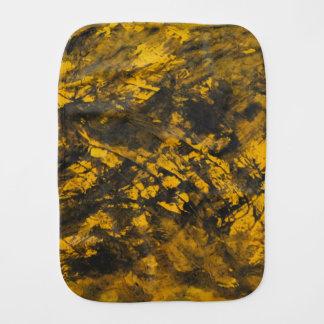 Black Ink on Yellow Background Burp Cloth