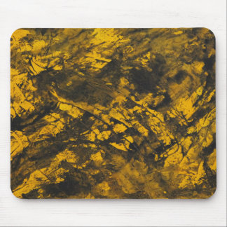 Black Ink on Yellow Background Mouse Pad
