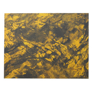 Black Ink on Yellow Background Notepad