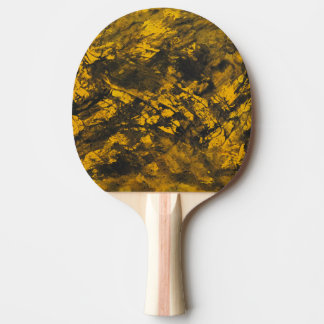 Black Ink on Yellow Background Ping Pong Paddle