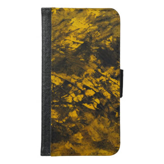 Black Ink on Yellow Background Samsung Galaxy S6 Wallet Case