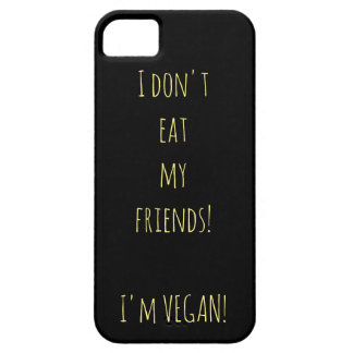 Black iPhone case for vegans with yellow writing