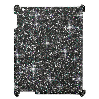 Black iridescent glitter iPad cases