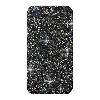 Black iridescent glitter iPhone 4 covers