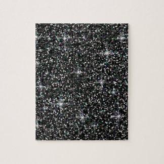Black iridescent glitter jigsaw puzzle