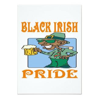 Black Irish Pride 13 Cm X 18 Cm Invitation Card