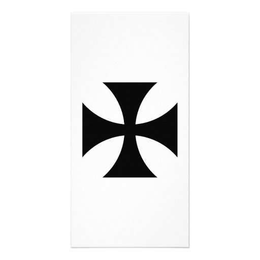 Black iron cross photo card