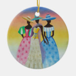 Black is Beautiful African American Art Double-Sided Ceramic Round Christmas Ornament